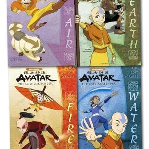 Avatar Last Airbender 4 Books AIR WATER EARTH FIRE